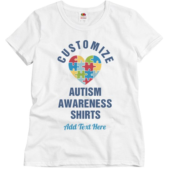 Customise Your Own Autism Puzzle Heart Tee