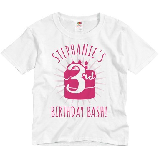 Customizable 3rd Birthday Group Tee