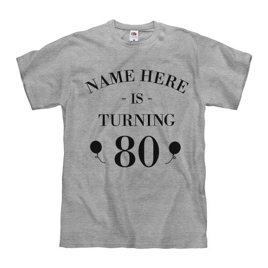 Customizable 80th Birthday Design