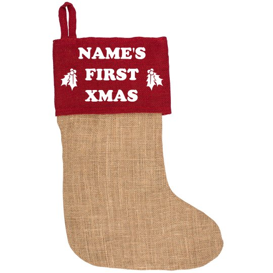 Customizable Baby's First Christmas