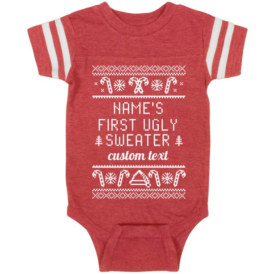 Customizable Baby's First Ugly Sweater