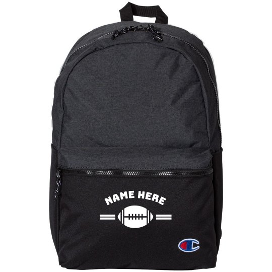 Customizable Back to School Football Backpack