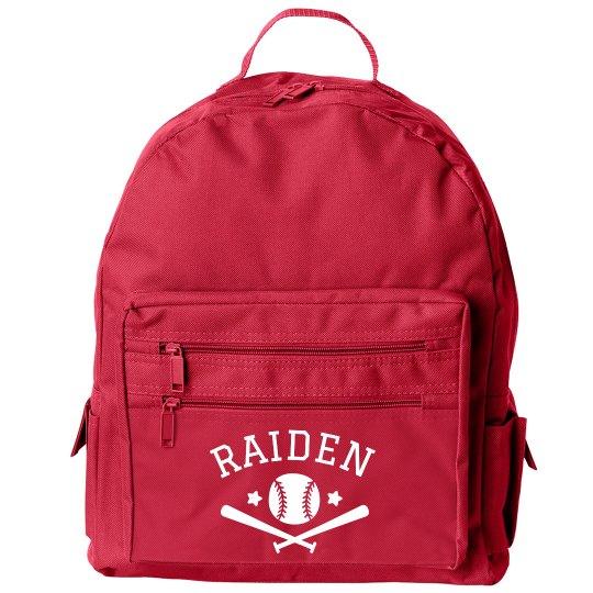 Customizable Baseball Back to School Sports Backpack