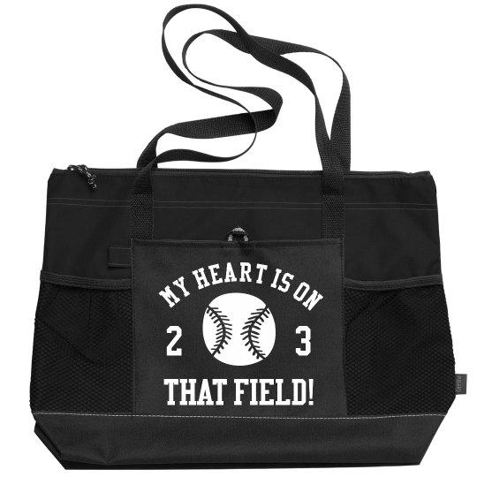 Customizable Baseball Mom Gear Bag