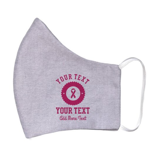 Customizable Breast Cancer Face Mask