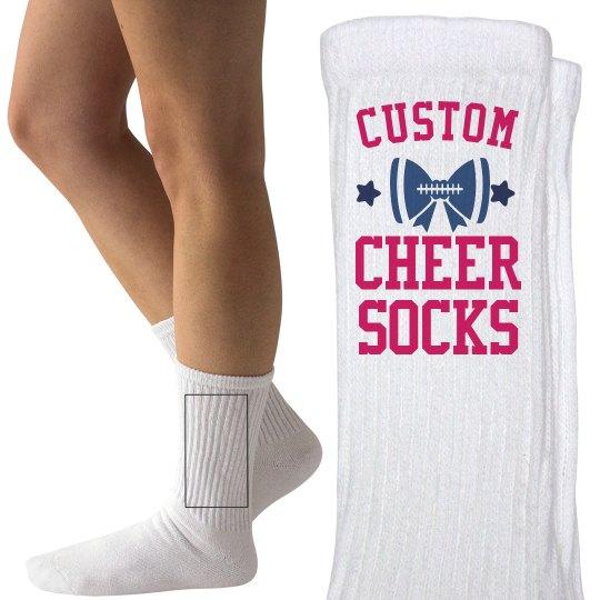 Customizable Cheer Socks