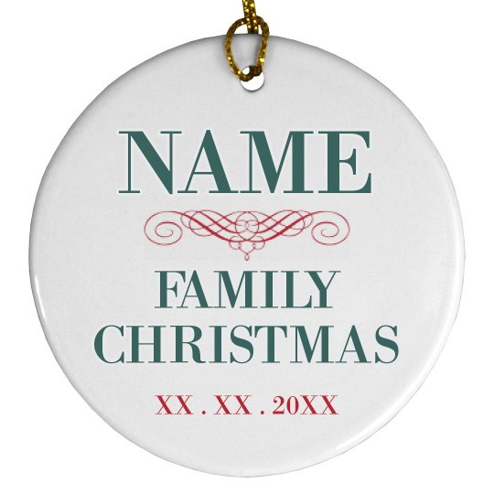 Customizable Family Christmas Decor