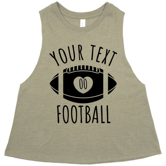Customizable Football Girlfriend Crop