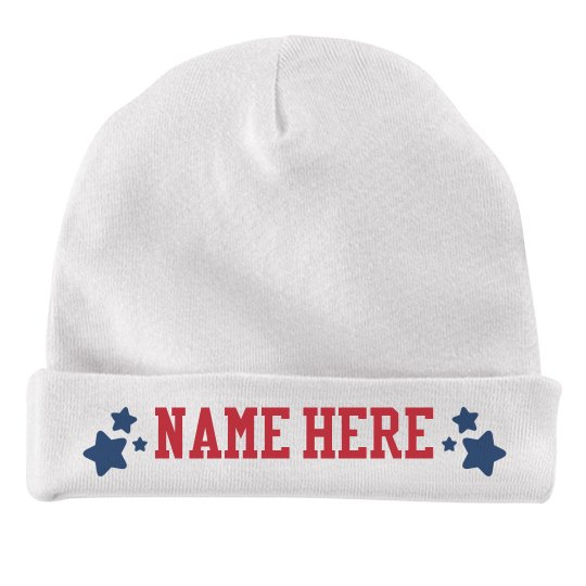 Customizable Fourth of July Baby Hat