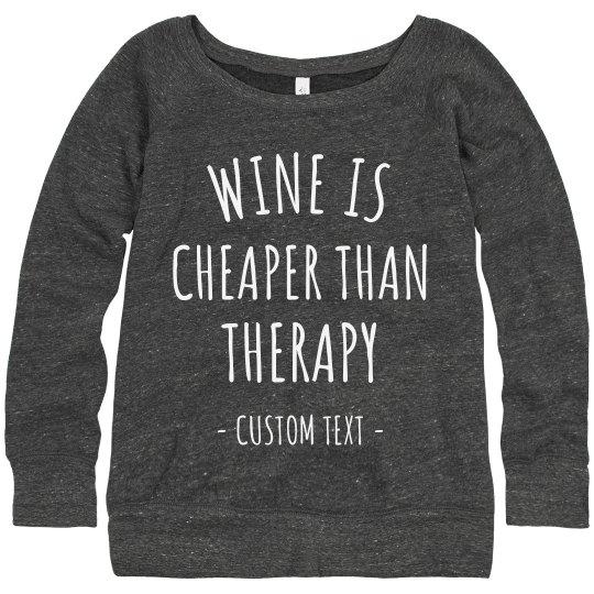 Customizable Funny Wine Sweater
