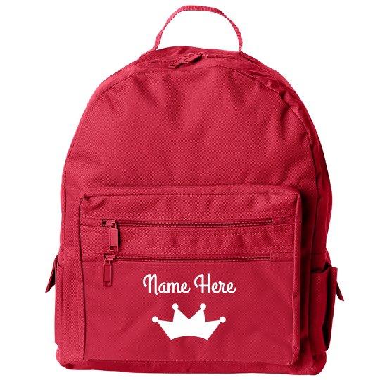 Customizable Girl's Back to School Backpack