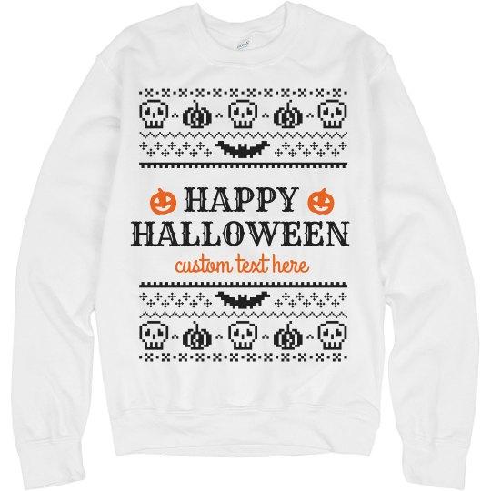 Customizable Halloween Ugly Sweaters