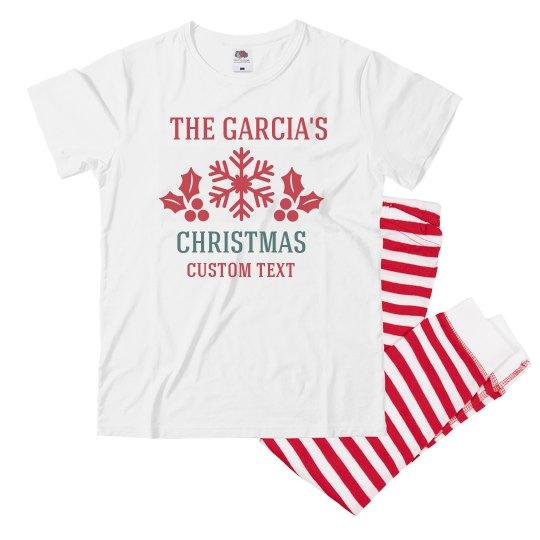 Customizable Holiday Family Pajamas