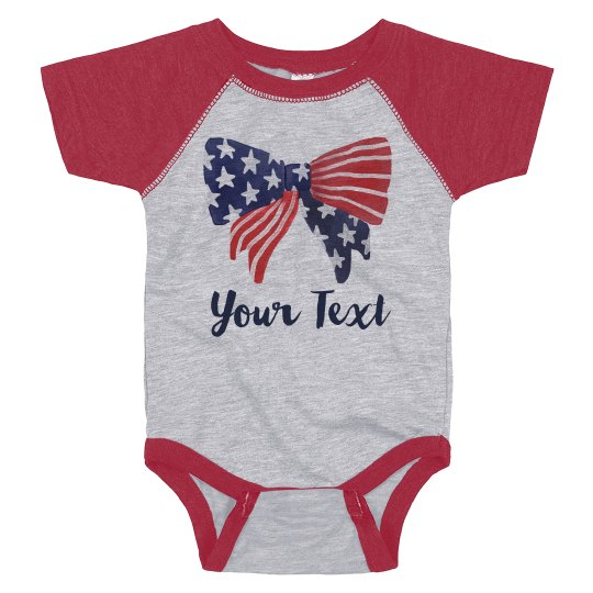 Customizable July Fourth Patriot Baby