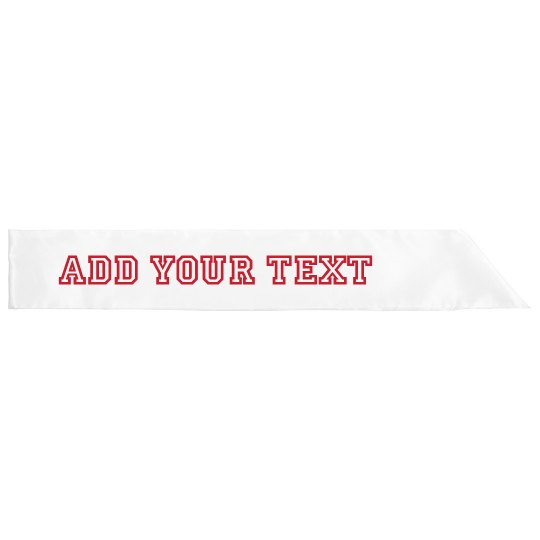 Customizable Metallic Sports Text