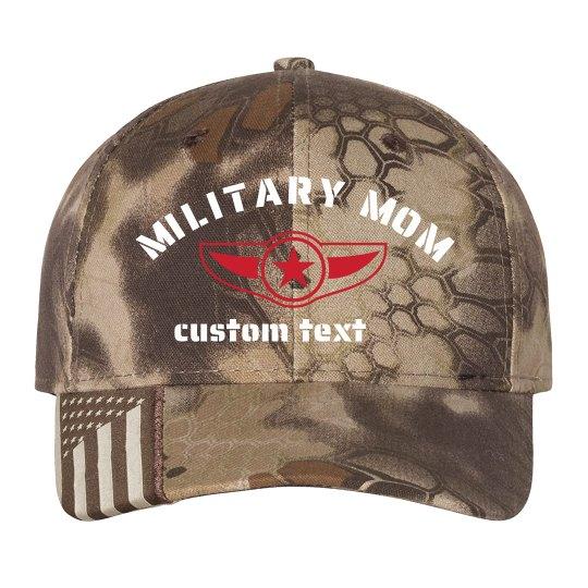 Customizable Military Mom Camo Hat