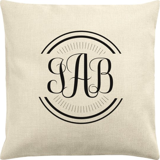 Customizable Monogram Trendy Pillowcase