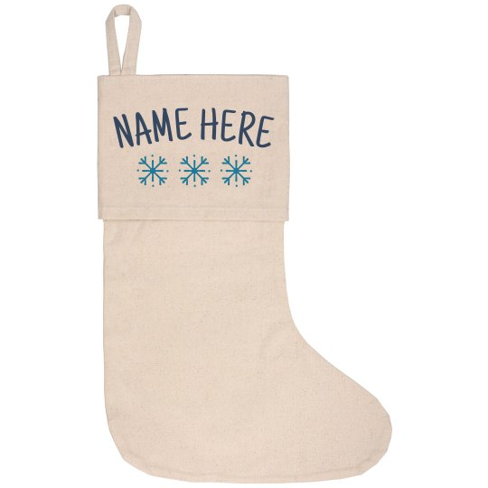 Customizable Name With Snowflakes