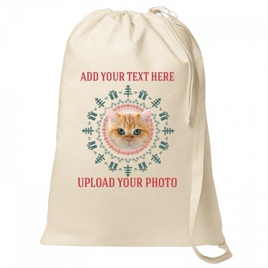 Customizable Pet Photo Santa Bags