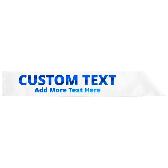 Customizable Sash With Metallic