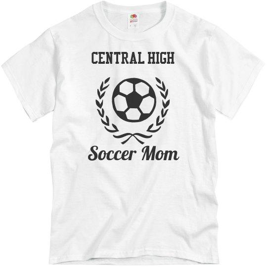 Customizable School or Team Soccer Mom