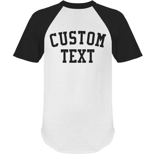 Customizable Short Sleeve Raglan