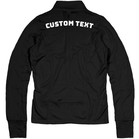 Customizable Sporty Full-Zip Jacket
