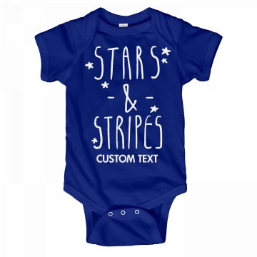 Customizable Stars and Stripes Onesie