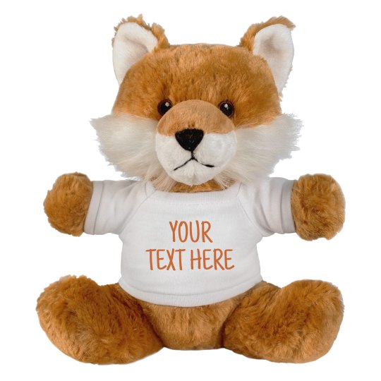 Customizable Stuffed Fox