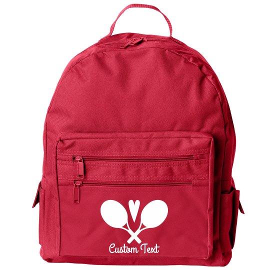 Customizable Tennis Logo Sport Backpack