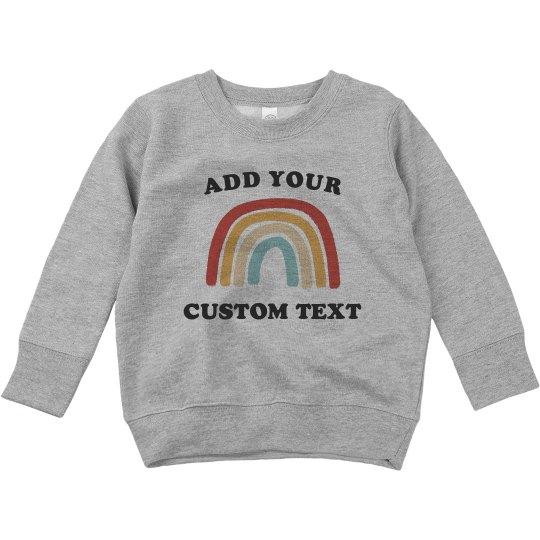Customizable Trendy Toddler Sweatshirt