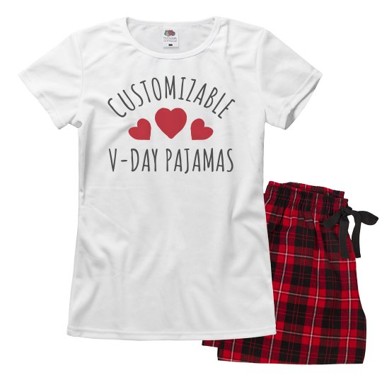 Customizable Valentine's Day PJ's