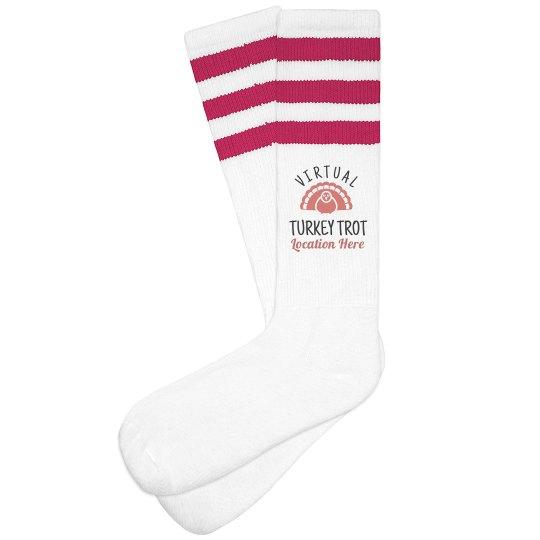 Customizable Virtual Turkey Trot Socks