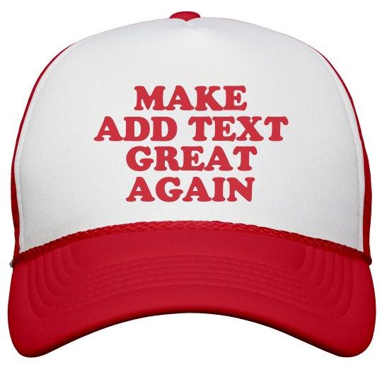 Customize a MAGA Cap