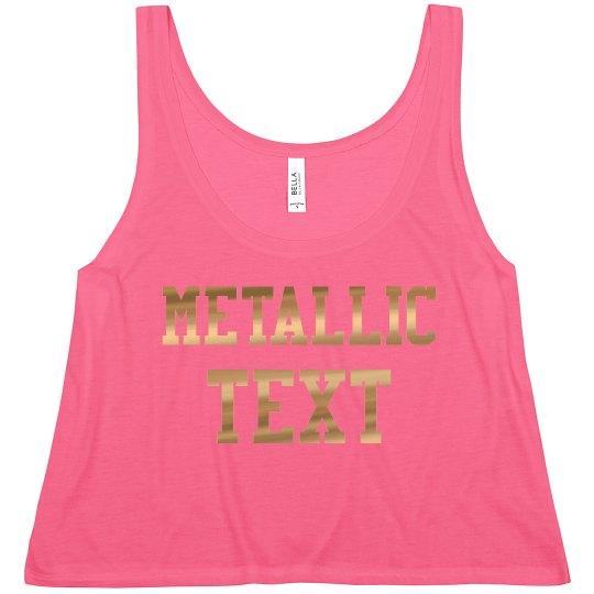 Customize a Metallic Crop