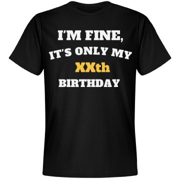 Customize birthday age