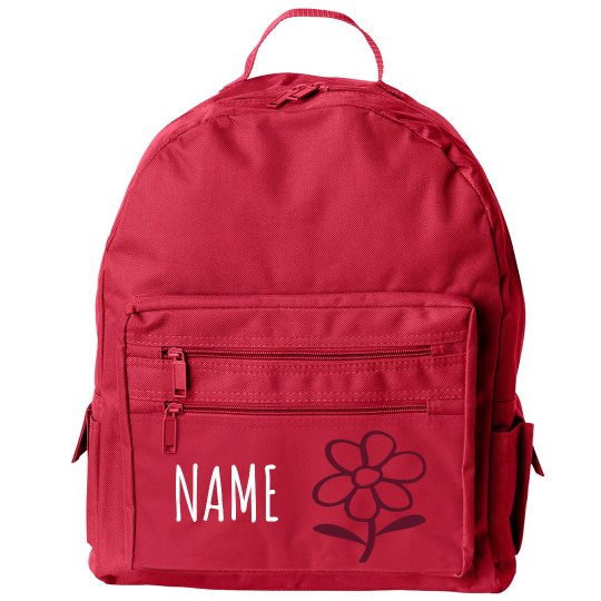 Customize with name and Flower