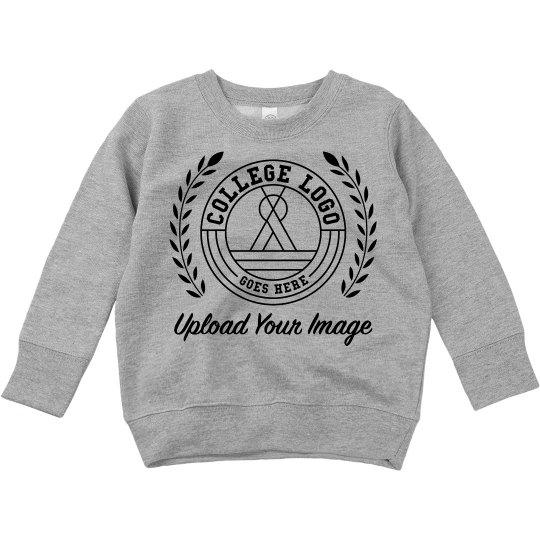 Customized College Logo Toddler Sweatshirt