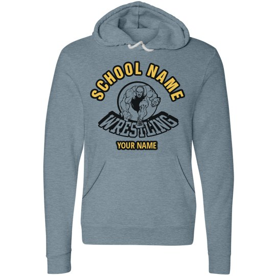 Custom-Made School Name Your Name Wrestling Hoodie
