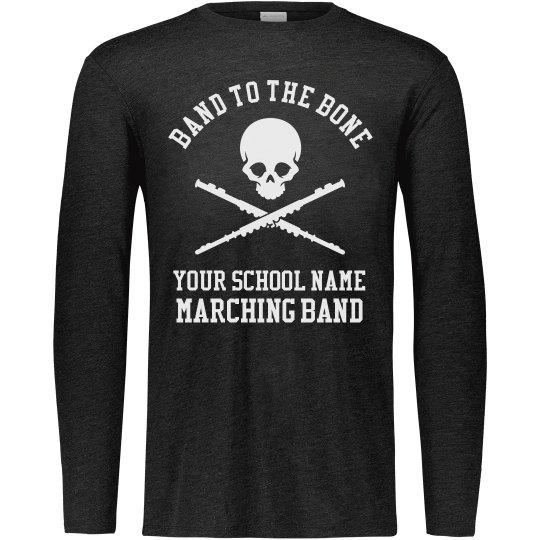 Custom-Order School Band To The Bone Marching Band Tee