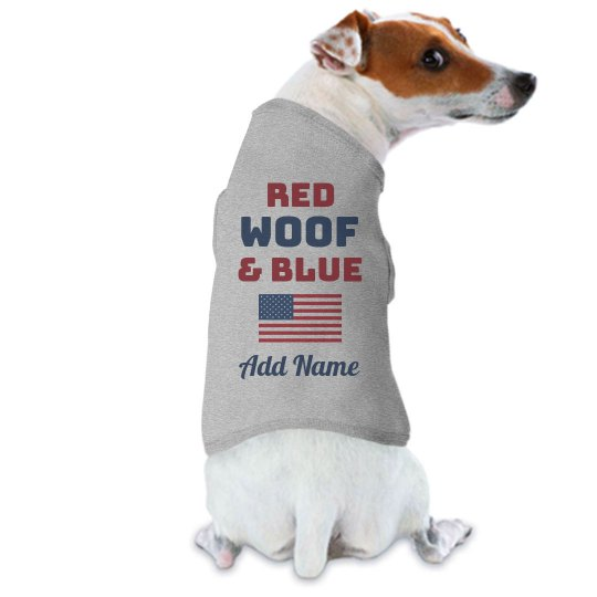 Cute 4th of July Dog Custom Name