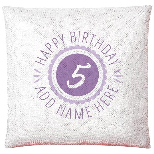 Cute 5th Birthday Gift Add Name