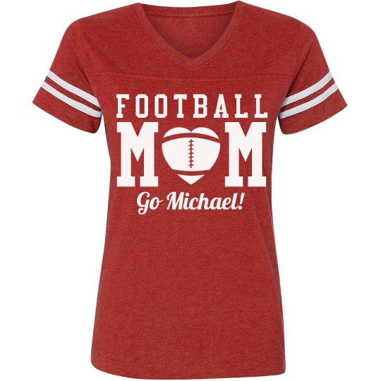 Cute and Sporty Custom Football Mom Shirts With Back