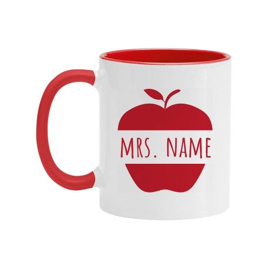Cute Apple Custom Teacher Gift