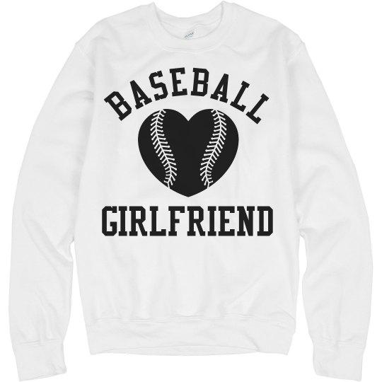 Cute Baseball Girlfriend Fleece Sweatshirt