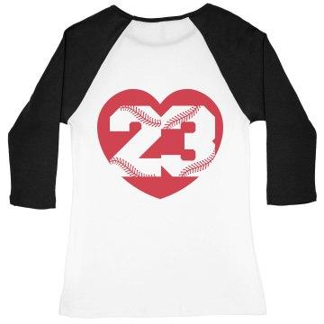 Cute Baseball Girlfriend Shirt With Custom Back