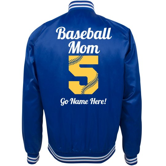 Cute Baseball Mom Bomber