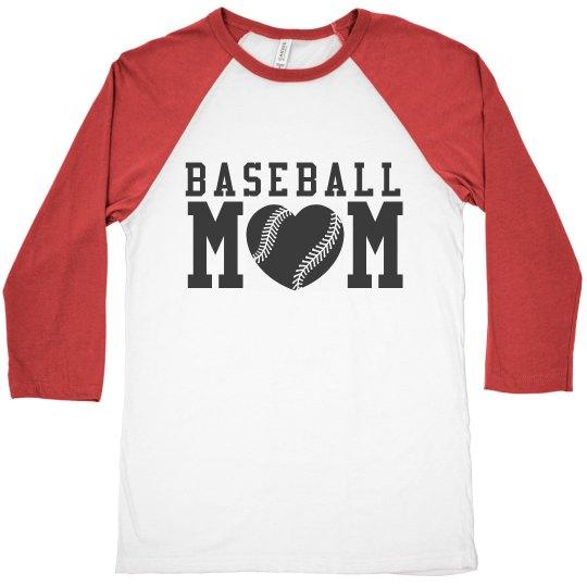 Cute Baseball Mom Jersey Shirt Raglan Sleeve