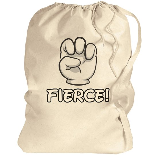 Cute But Fierce Cheer Laundry Bag