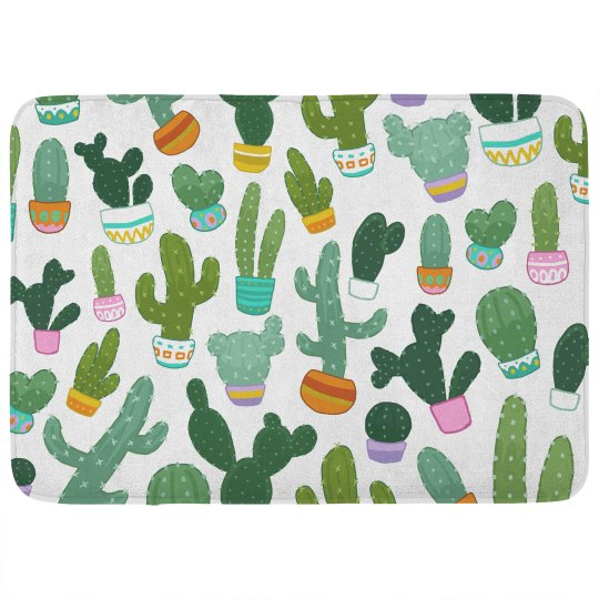 Cute Cactus Trendy Bathroom Decor